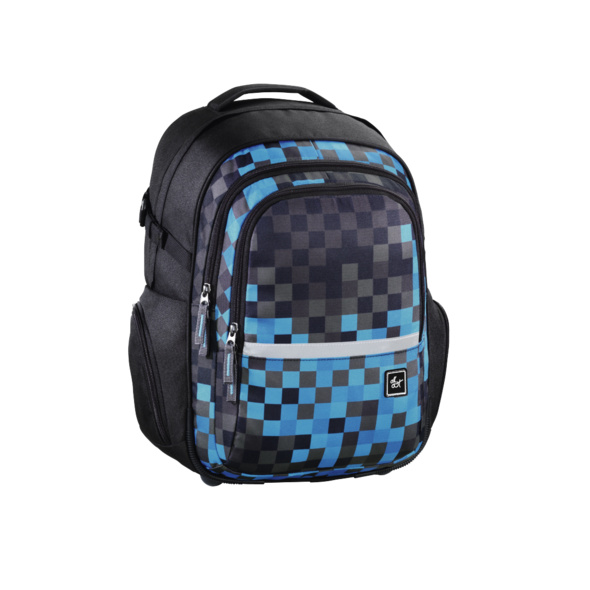 all out Schulrucksack Filby blue pixel
