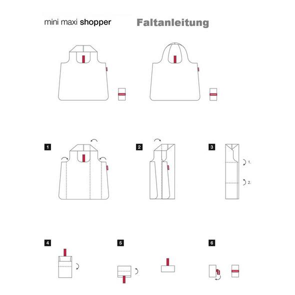 reisenthel Faltbeutel mini maxi barock taupe
