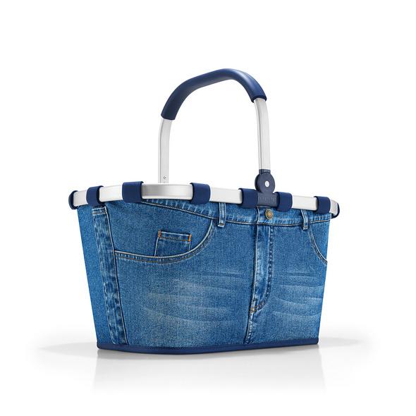 reisenthel Einkaufskorb carrybag gemustert 22l jeans