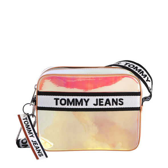 Tommy Jeans Umhängetasche TJW Logo Tape Crossover canteloupe