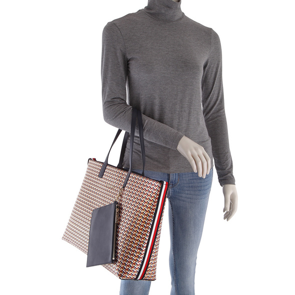 Tommy Hilfiger Shopper Iconic Tommy Tote metallic monogram