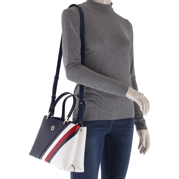 Tommy Hilfiger Kurzgriff Tasche TH Core Med Satchel corporate