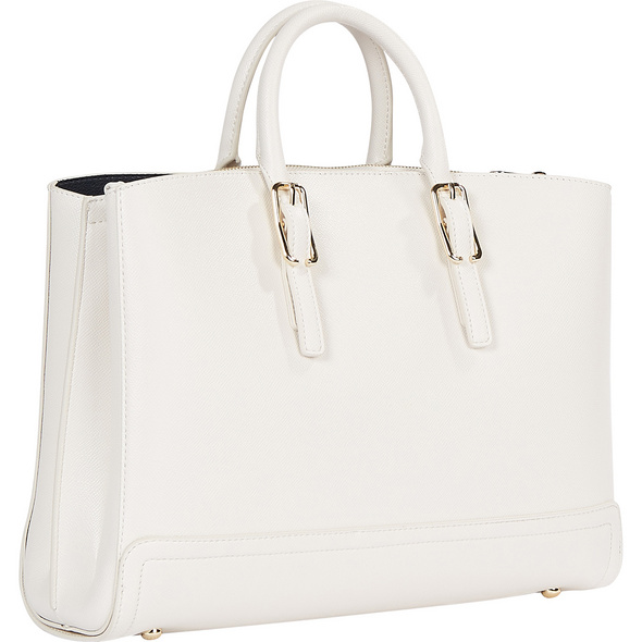 Tommy Hilfiger Kurzgriff Tasche Honey Workbag white dove