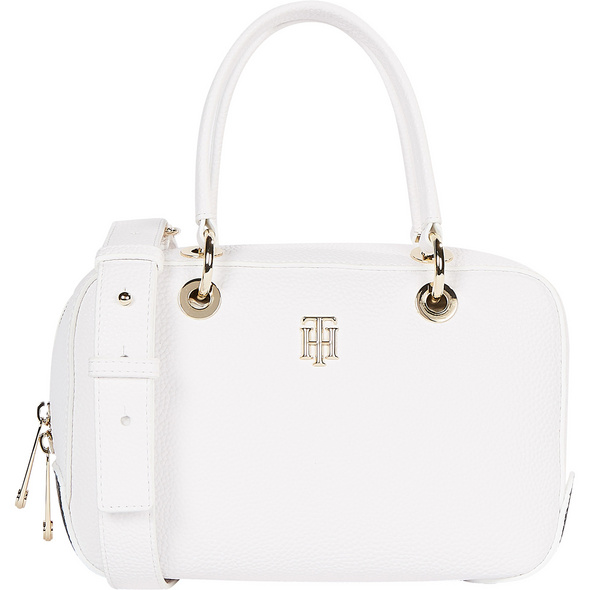Tommy Hilfiger Kurzgriff Tasche TH Essence Med Duffle Corp bright white