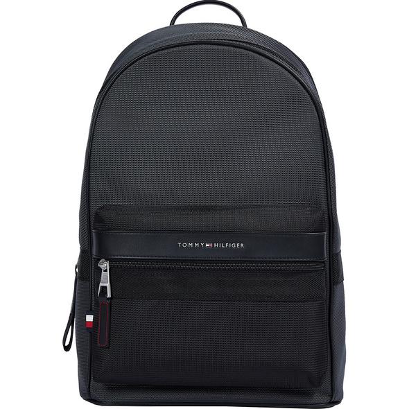 """Tommy Hilfiger Laptop Rucksack Elevated Nylon Backpack 19"""" black"""