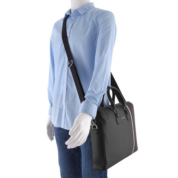 Tommy Hilfiger Aktentasche Fine Leather Slim Comp Bag black