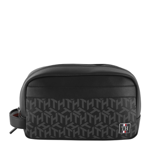 Tommy Hilfiger Kulturbeutel Coated Canvas Washbag Black Monogram