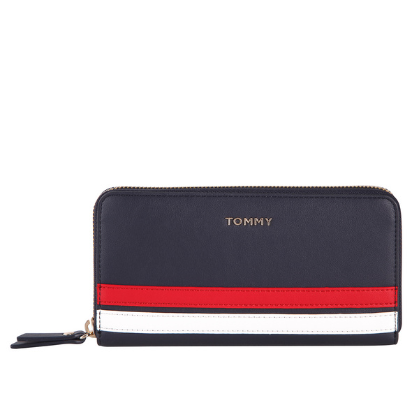 Tommy Hilfiger Langbörse Damen Tommy Staple LRG Zip Around blue