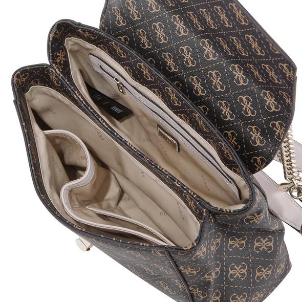Guess Kurzgriff Tasche Lorenna Shoulder Bag coal