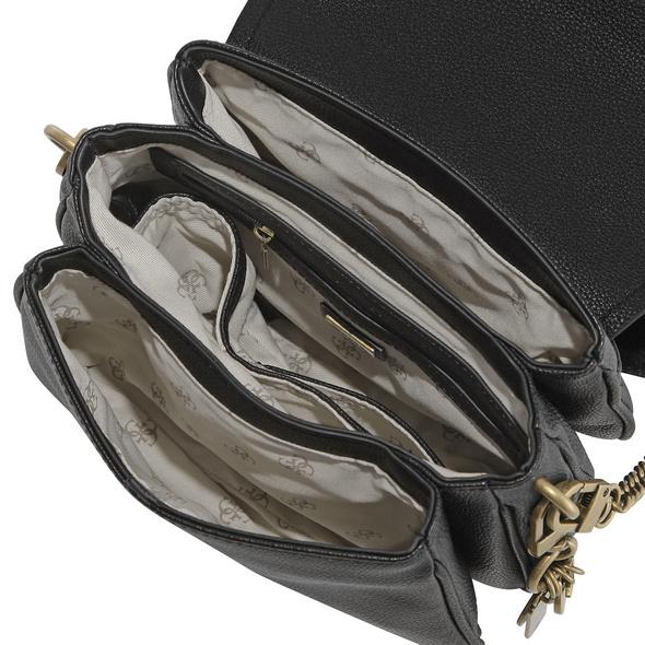 Guess Kurzgriff Tasche Destiny Shoulder Bag schwarz