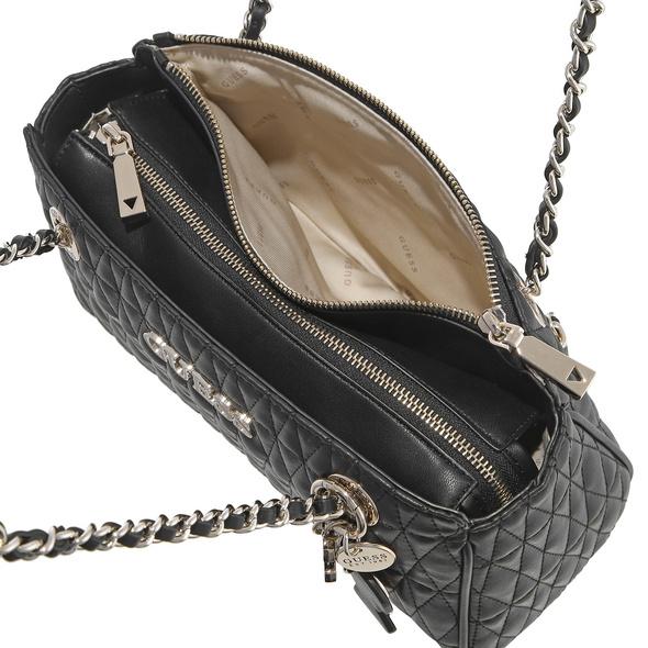 Guess Kurzgriff Tasche Brinkley Society Satchel schwarz