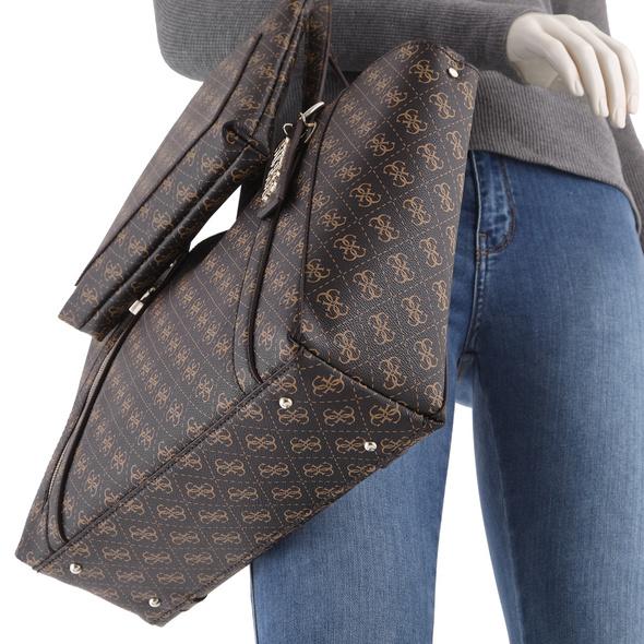 Guess Shopper Naya Trap Tote Bag in Bag latte/stone