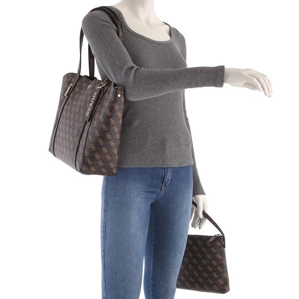 Guess Shopper Naya Trap Tote Bag in Bag brown