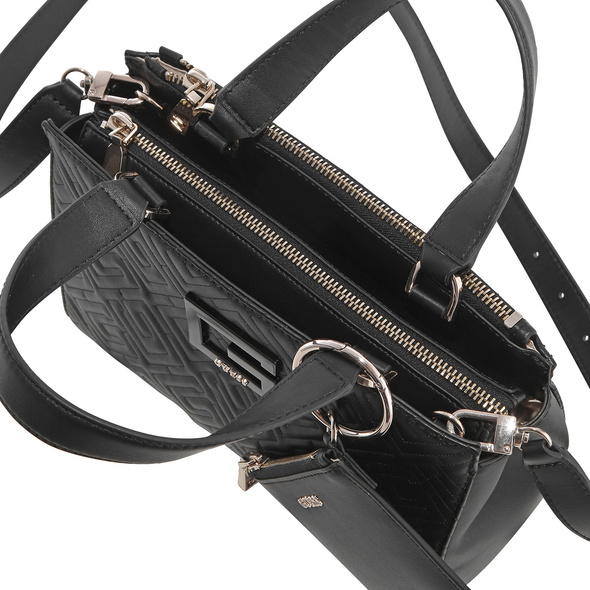 Guess Kurzgriff Tasche Janay Small Society Satchel black