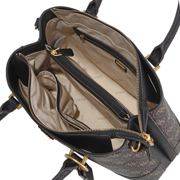 Guess Kurzgriff Tasche Cordelia Logo Luxury Satchel brown logo