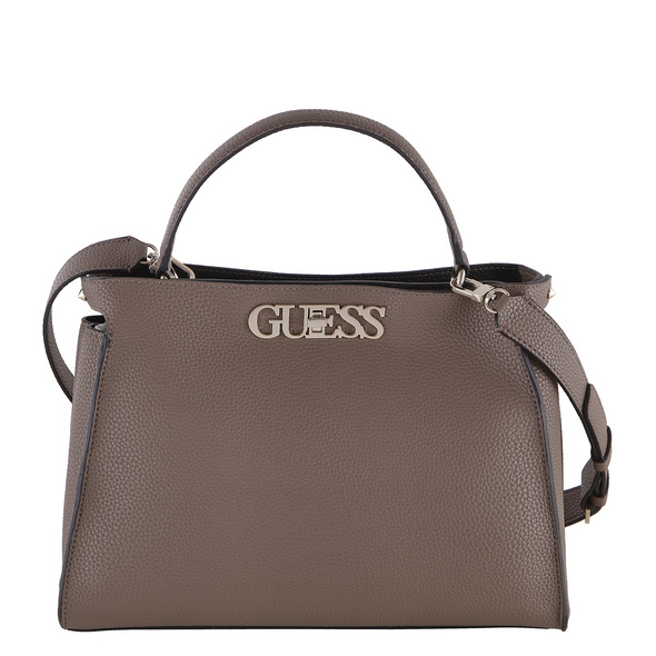 Guess Kurzgriff Tasche Uptown Chic Large Turn taupe