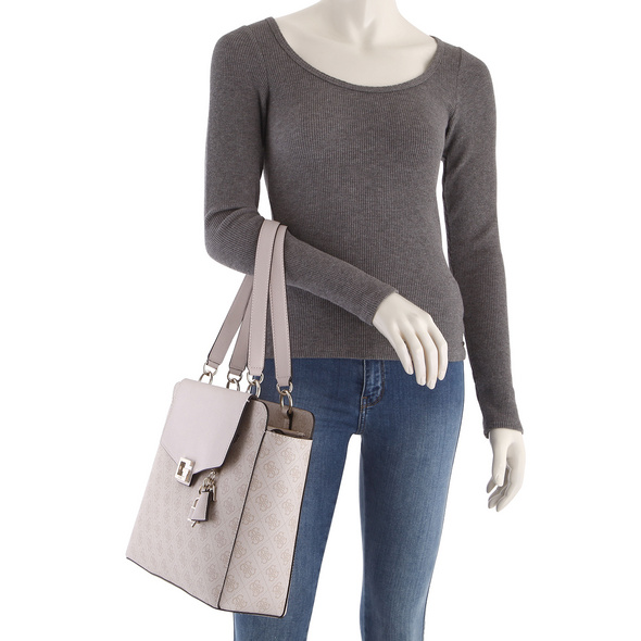 Guess Shopper Valy Status Carry All latte
