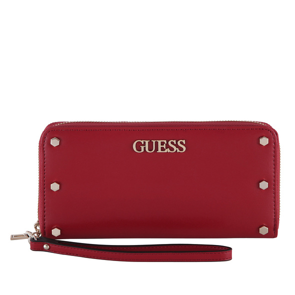 Guess Langbörse Damen Tia SLG Large Zip Around mittelrot