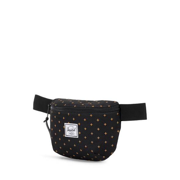 Herschel Bauchtasche Fourteen Hip Pack black gridlock gold