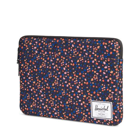 """Herschel Laptophülle Anchor 15"""" black mini floral"""