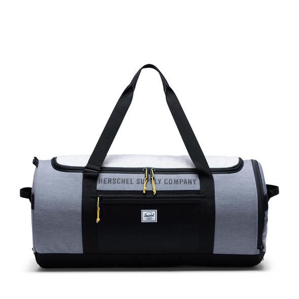 Herschel Reisetasche Sutton Carryall Duffle 50l mid grey crosshatch/light grey crosshatch/black