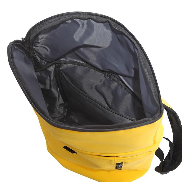 Rada Rucksack College Backpack Rolltop 13l gelb