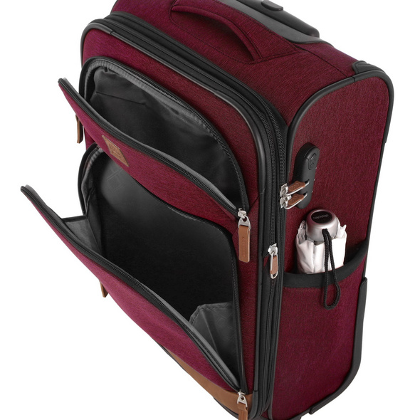 Rada Reisetrolley Rainbow T1/55cm bordeaux 2 tone cognac