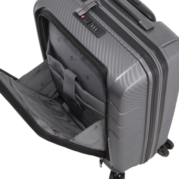 Von Cronshagen Reisetrolley Matteo 55cm Lap grey metallic