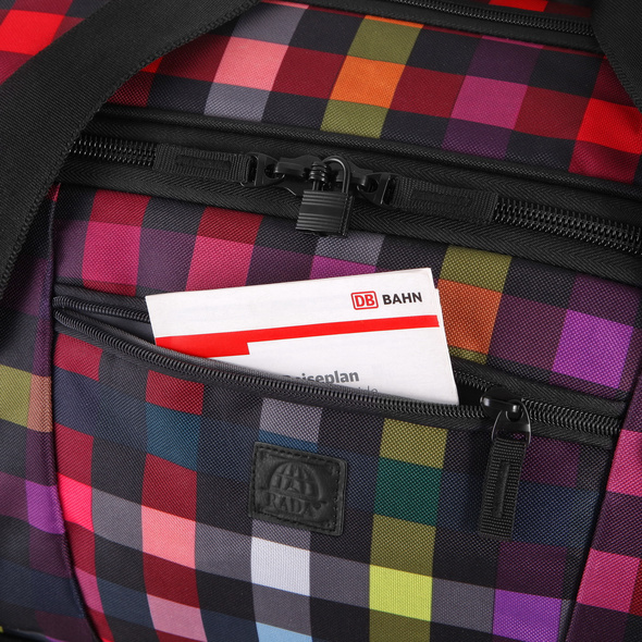 Rada Reisetasche mit Rollen RT/22 120l multicolor check