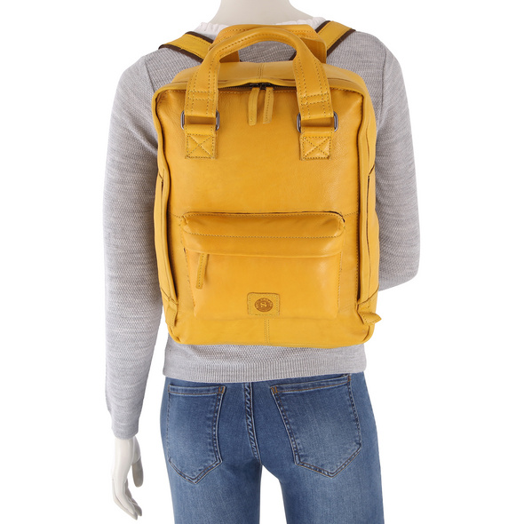 Sattlers & Co. Rucksack The American Oliverio dark yelllow