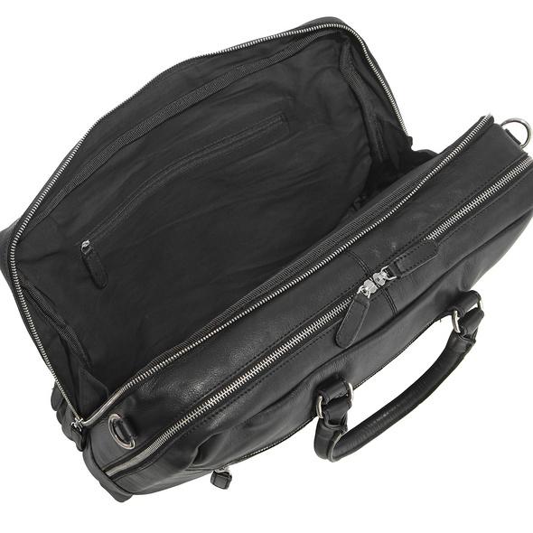 Sattlers & Co Aktentasche The American Obisidian Briefcase L black