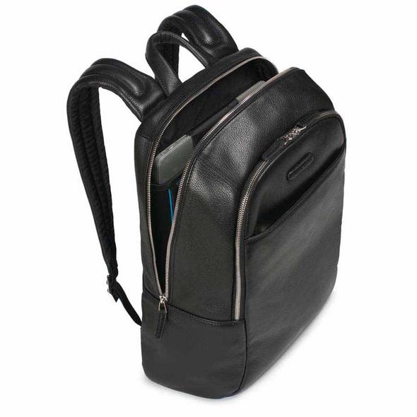 """Piquadro Laptoprucksack 14"""" schwarz genarbt"""
