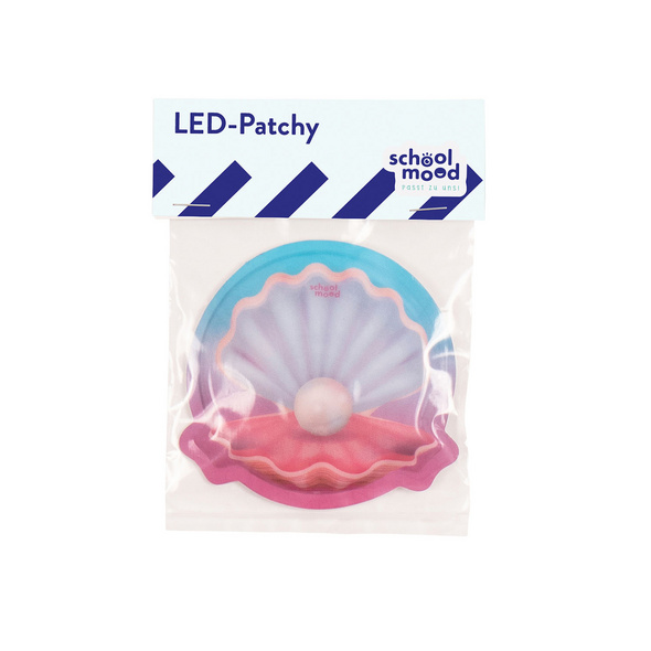 School-Mood Patchy LED Muschel