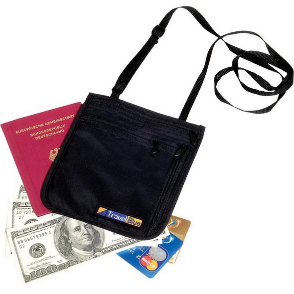 Travel Blue Brustbeutel Neck Wallet schwarz