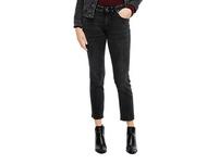 Slim Fit: Stretchjeans mit Nieten - 7/8-Jeans