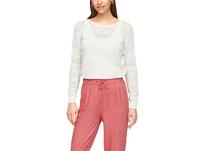 Leichter Pullover mit Ajourmuster - Sommerpullover