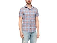 Slim Fit: Hemd mit Karos - Kurzarmhemd