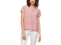 Streifen-Shirt mit Ausbrennermuster - T-Shirt
