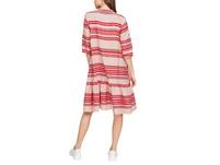 Baumwollkleid mit Webmuster - Baumwollkleid