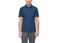 Extra Slim: Hemd mit Webmuster - Kurzarmhemd