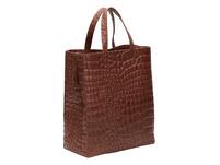 puristische Handtasche in Kroko-Optik - Kroko Paper Bag Tote M