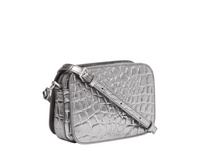 Umhängetasche mit Kroko-Optik in Metallic - Luka Crossbody S