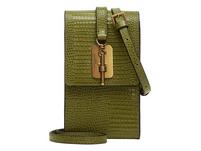 Mini-Tasche zum Umhängen mit Reptilhautprägung - Meryl Lizard Necklace Accessory