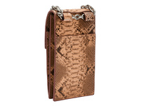 Handyschultertasche mit Schlangenhautprägung - Valentine's Special Snake Mobile Pouch