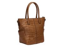 Tote Tasche aus Leder mit hochwertiger Krokoprägung - Annie Tote M