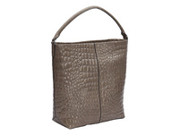 Hobo Bag aus Leder mit hochwertiger Krokoprägung - Annie Hobo L