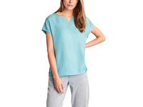 Bluse aus Cupro und Viskose - Cupro-Blusenshirt