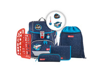 Step by Step Schulranzen-Set 6-tlg. Jungen 2in1 Plus Sky Rocket