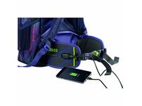 coocazoo Hüftgurt TecCheck mit Power Pack violet