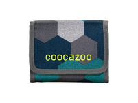 coocazoo Klettverschlussbörse CashDash blue geometric melan